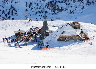 A view on ski recreational area. Austria, Mayrhofen.