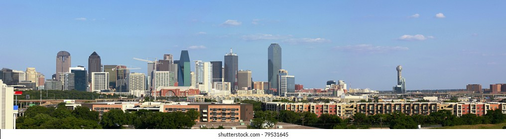 View on Skyline of Downtown Dallas