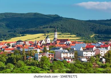 View on Slovak town Levoca UNESCO heritage, Levoca, Slovakia