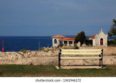 view on the small chappel in Veli Losinj, island Losinj, Crpatia
