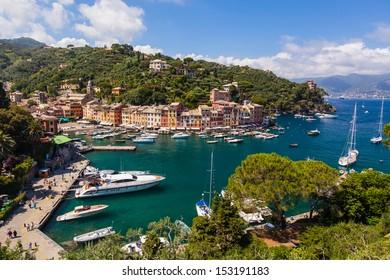 View on small harbour and Santa Margareta Ligurie