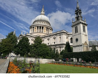 View on St. Paul's Cathedral, London, Great Britain, July 2017