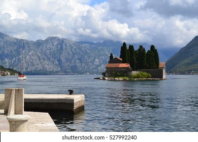 View on St.George Island near Perast, Bay of the Kotor