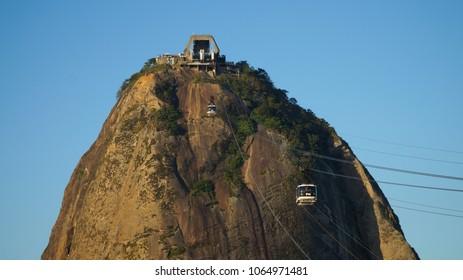 View on the Sugar Loaf Peak in Rio de Janeiro, Brazil.