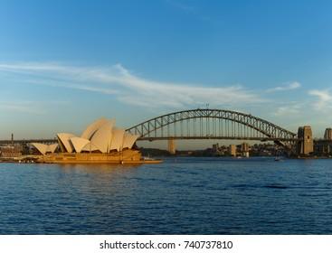 View on Sydney Opera House and Harbor bridge, Australia February 2017
