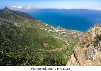 View on  Taganana area and coastline of Parque Rural de Anaga, Tenerife, Spain