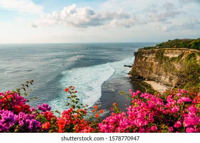 View on Tanah lot temple cliff