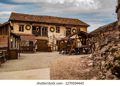 View on the tavern of the castle of Zumelle in Mel, at the Borgo val Belluna. 27 December 2018 Mel, Belluno - Italy
