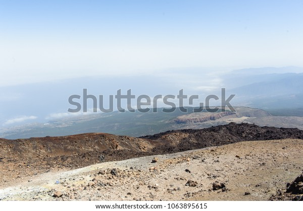 View on Teide National Park from the Mountain