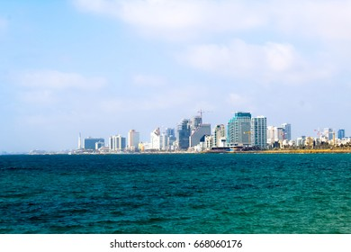 View on Tel Aviv from Mediterranean Sea