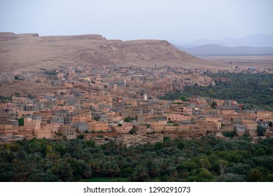 View on the Tinghir town in Atlas mountains, Morocco