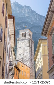View on the Torre Apponale in Riva in Italy