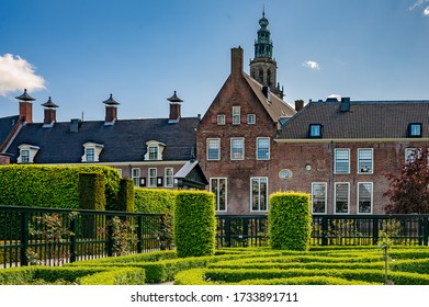 view on the tourist hotspot prince garden (prinsentuin) in the city of Groningen in the Netherlands