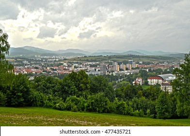 View on a town - Banska Bystrica in the center of Slovakia.