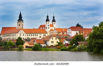 View on Trebon old town,Czech republic