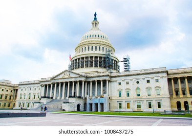 View on the United States Capital building east facade, Washington DC.  Government of United States of America