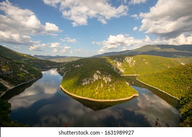 View on valley in Dabrac, near Bocac and Banja Luka in Bosnia and Herzegovina - Shutterstock ID 1631989927
