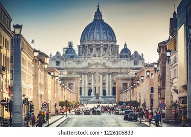 View on the Vatican in Rome, Italy. Travel and architectural background.