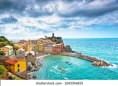 View on Vernazza, Italy