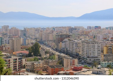 View on Vlora in Albania from above