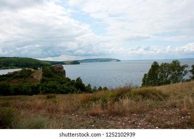 The view on the Volga river near Togliatty city