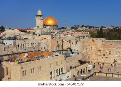 View on the wailing wall in Jerusalem.