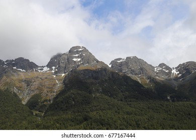View on the way to Milford Sound, New Zealand