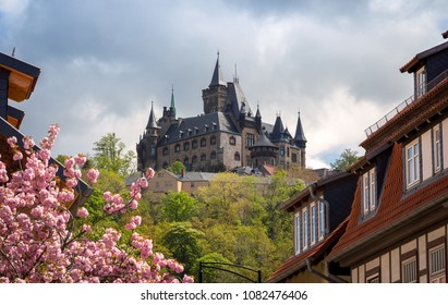 View on the Wernigerode castle from the town. Wernigerode, Harz, Germany