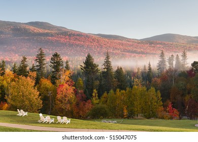 View on the White Mountains from the 2nd floor of the Omni Mount Washington Resort - Bretton Woods, NH, USA