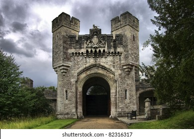 View of one of the gate to Arundel castle