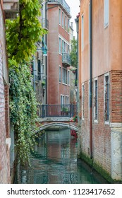 View of one of the old canals of Venice