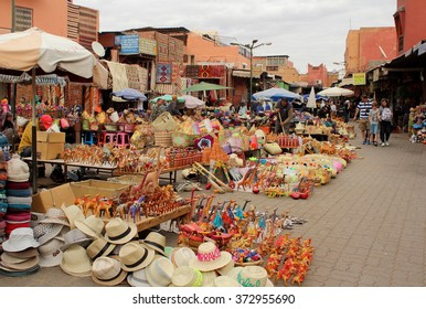 View of one part of the Jamaa el Fna square, the main market place in Marrakesh, Morocco. The photo was taken on 8th January, 2016