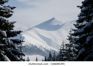 A view of one of the peaks of the Polish Western Tatras