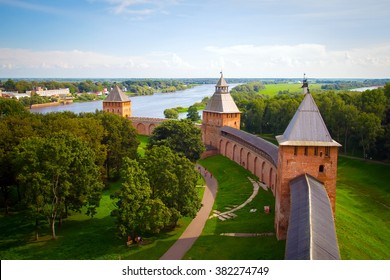 View from one of towers of the Kremlin in Veliky Novgorod
