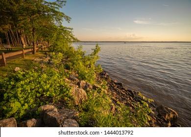 View of Oneida Lake at Verona Beach State Park