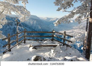 View onto the Drina River in the Tara Mountains (Serbia)