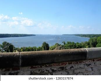 View onto the Potomac River at Fort Washington Park in Fort Washington, Maryland, USA
