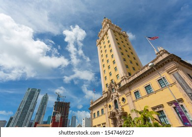 View from open top bus and Freedom Tower, Downtown Miami, Miami, Florida, United States of America, North America 1-10-19