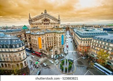View of opera Garnier, Paris, France. - Shutterstock ID 523883821