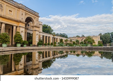 View of the Orangerie in Sanssouci park in Potsdam, Germany