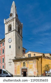 View of the Oratory of San Rocco in the historic center of Lerici, Liguria, Italy