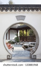 A View of Oriental Garden with Art Deco
