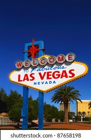 A view of the original Las Vegas Welcome sign