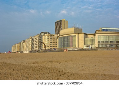 View of Ostend in Belgium from the beach