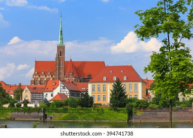 A view of the Ostrow Tumski, the oldest district in Wroclaw