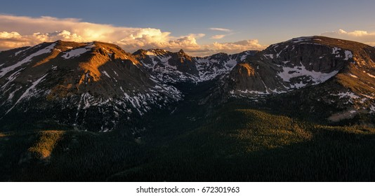 View of Otis Peak and the Alpine Tundra in the Rocky Mountain National Park, Colorado