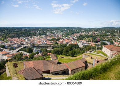 View out over Halden from the Fredrikstens Fortress