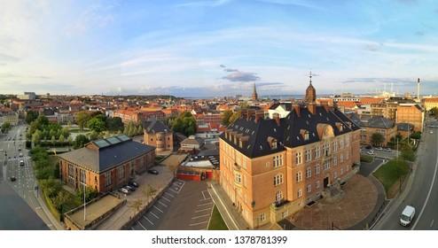 View over Aarhus, seen from the top of ARoS museum