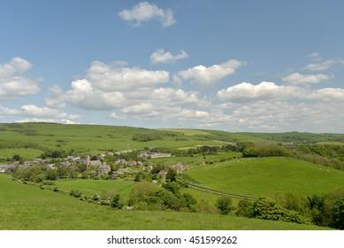 View over Abbotsbury village in Dorset