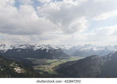 View over the alps from Bad Kissinger Hut